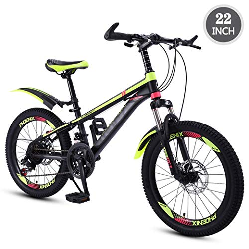 YELLAYBY Mountaineering Children's Bicycle 22Inch Variable Speed Mountain Bike, Comfortable Saddle, Nonslip Pedal, Suspension Fork, Safe and Sensitive Brake Outdoor Bike (Color : D)