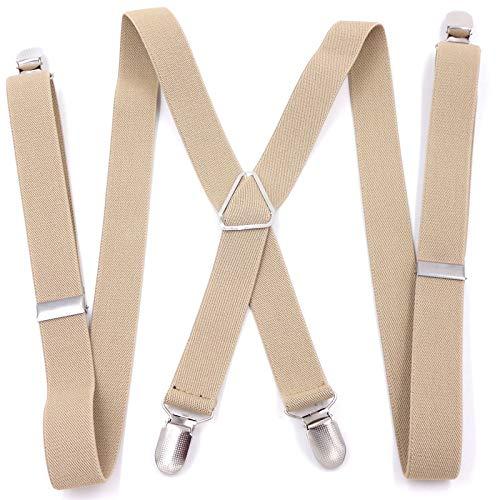 Supoogo elastische bretels met elastische banden en elastische clips.