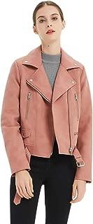Classic PU Leather Jacket, Girl's Women's Fashion Slim Casual Sport Suede Faux Zipper Moto Biker Jacket Coat