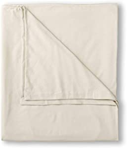Eddie Bauer Unisex-Adult Flannel Duvet Cover - Solid, Ivory Full Queen Full/QUEE