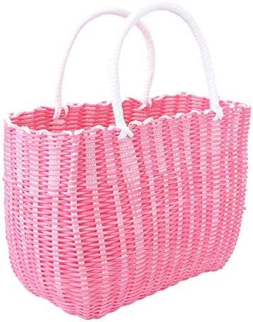 Cabilock Market Basket Woven Straw Basket African Basket Straw Beach Bag Reusable Grocery Shopping product image