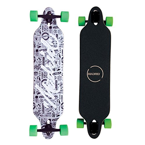 Madrid Twin-Tip Longboard, Drop-Through, Tombstone Script 38.38
