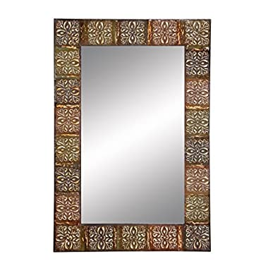 Aspire Embossed Metal Frame Wall Mirror, 36 , Multicolor