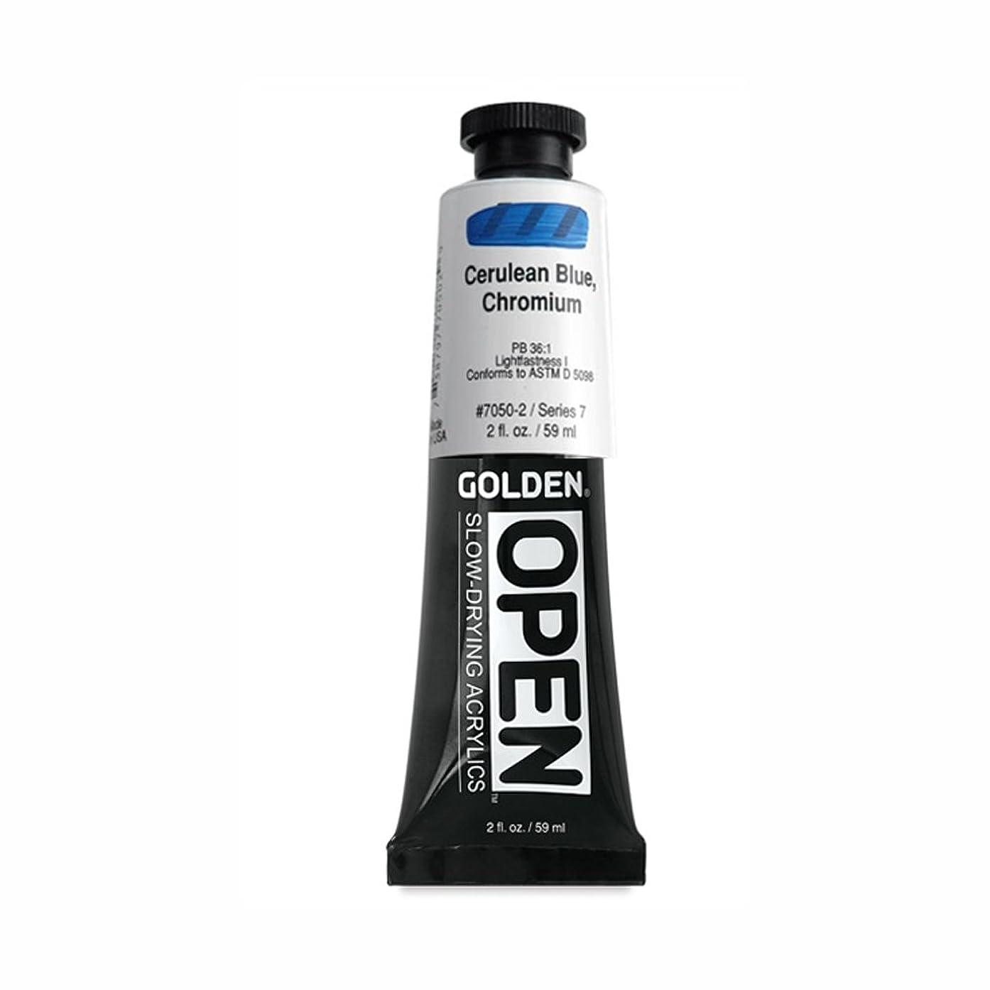 Open 2 Oz Acrylic Color Paint Color: Cerulean Blue Chromium