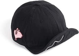 Baseball Cap Cute Pig Embroideried Short Bill Snapback Caps Flat to Full Flip Brim Hat