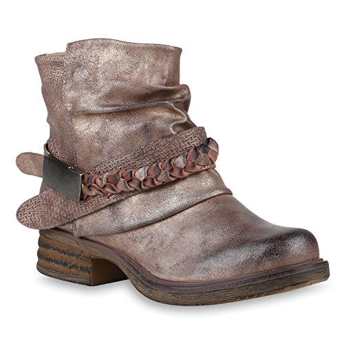 Stiefelparadies Donna Stivaletti Bassi Biker Boots