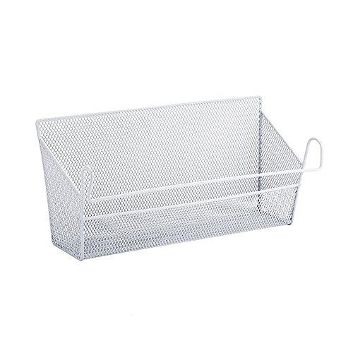 Ddfly opknoping plank mand draad metalen opslag manden nachtkastje mandje origanizer desktop hoek planken mand houder met haak