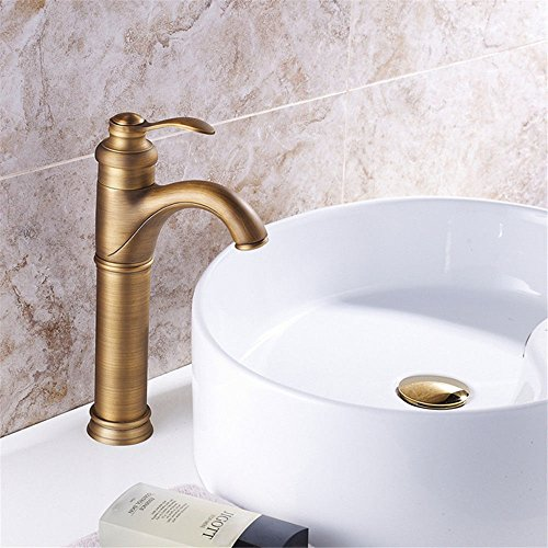 Wastafelkraan met uittrekbare dubbele spoeldouche spiraalveerkraan waterkraan kop-aangebrachte wastafelkraan Europese antieke hotelbassinkraan koper metalen badkamerkraan