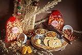 Kesar The Happiness Flavor Lohri gift pack - Popcorn (80g), Moongphali (250g), Gud Para(150g), Dryfruit Kachori , Dry fruit Gajak , Gur Rewari (400g each), Badam Panjeeri (100g), Pan Kishmish(150g), Navratan Mixture (250 g) | Lohri Gift Pack | Crispy & Flaky Khasta Gud Gajak | Sesame Chikki | Gazak gur | Jaggery Sesame Bar Sweets and Snacks