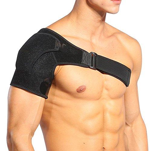 DOACT Hombrera Ajustable, Apoyo de Hombro de Neopreno Transpirable, con Pressurized Hombrera para Prevención y Recuperación de Lesiones Deportivas, Hombre/Mujer