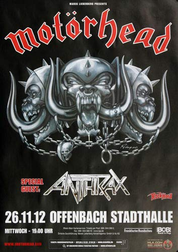 Motörhead - Alive and Swinging, Frankfurt 2012 » Konzertplakat/Premium Poster | Live Konzert Veranstaltung | DIN A1 «