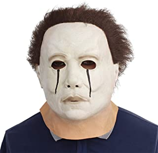 Novelty Creepy Scary Horror Halloween Cosplay Party Costume Latex Head Mask - Michael Myers Weep