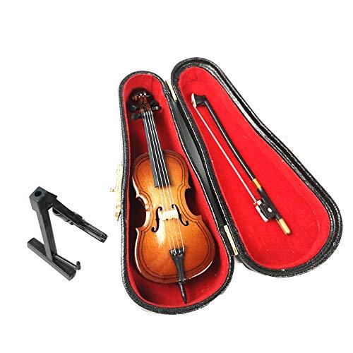 ALANO Mini Violonchelo Modelo con Arco y Soporte Adorno Decorativo Mini Adorno Musical (C-10-S)