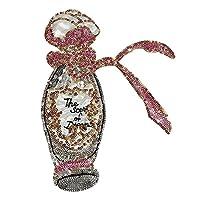 jnai 刺繍スパンコール大香水瓶布服創造的な装飾布(5pcs)18 * 24cm