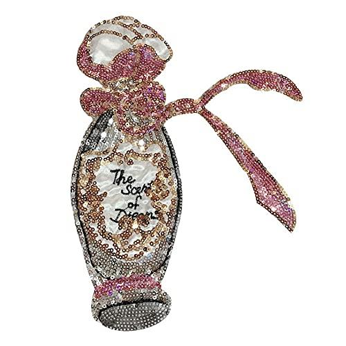 Parches para Ropa Bordado Lentejuelas con Lentejuelas de Perfume de Perfume Ropa de Tela de decoración Creativa (5pcs) 18 * 24cm