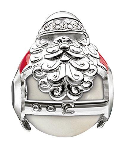 Thomas Sabo Women-Bead Santa Claus Karma Beads 925 Sterling Silver red Zirconia white Freshwater Pearl K0185-149-27