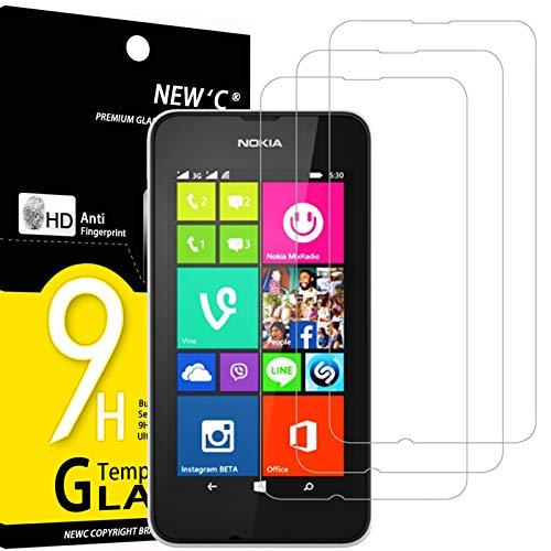 NEW'C 3 Stück, PanzerglasFolie Schutzfolie für Nokia Microsoft Lumia 530, Frei von Kratzern Fingabdrücken & Öl, 9H Festigkeit, HD Bildschirmschutzfolie, 0.33mm Ultra-klar, Ultrawiderstandsfähig