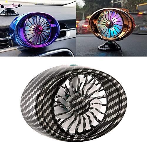 Vent fan del coche de múltiples funciones de la interfaz USB LED de la lámpara ventilador portátil Alta calidad (Color : Color4)