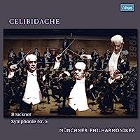 ブルックナー : 交響曲第5番 / セルジュ・チェリビダッケ   ミュンヘン・フィルハーモニー管弦楽団 (Bruckner: Symphony No.5 / Sergiu Celibidache, Munchner Philharmoniker) [3LP] [国内プレス] [限定盤] [日本語帯・解説付] [Analog]