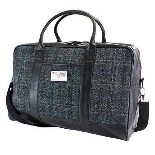 The British Bag Company Berneray Holdall mit Grauem Tartan Harris Tweed