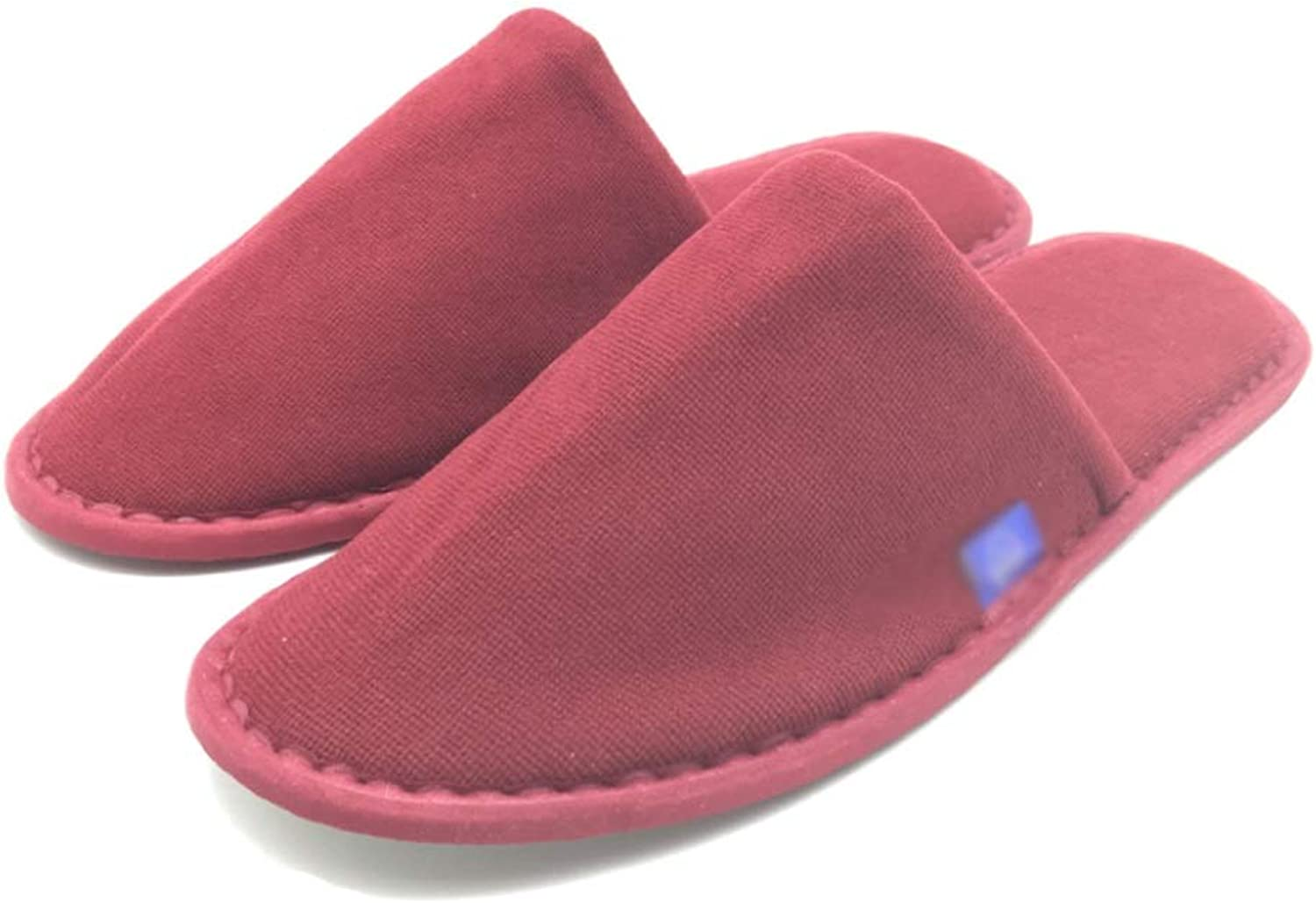 DISPOSABLE SLIPPER 10 Pairs, SPA SLIPPER, Unisex Non-slip Comfortable For Home, Hotel Or Commercial Use Red
