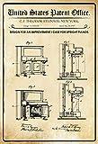 FS Patent Entwurf für Ein Klavier-Steinway - Cartel de Chapa Curvada (20 x 30 cm), diseño de Piano