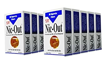 Nic-Out Filters for Cigarette Smokers 10 Packs  300 Filters