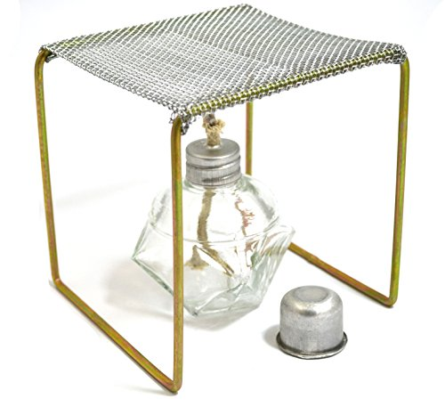 New Eisco Labs Alcohol Burner with Burner Stand (Approx. 5x5x5) Starter Set