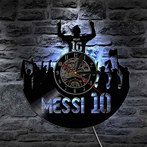 ZZLLL The King Wall Clock Argentina Soccer Player La imparable Leyenda del fútbol Force para