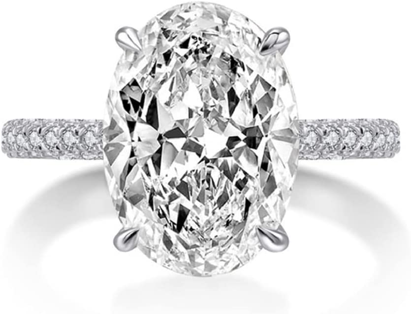 Duan Classic Promise Ring 925 Sterling Cut Al sold out. Silver Oval Super sale AAAAA 3ct