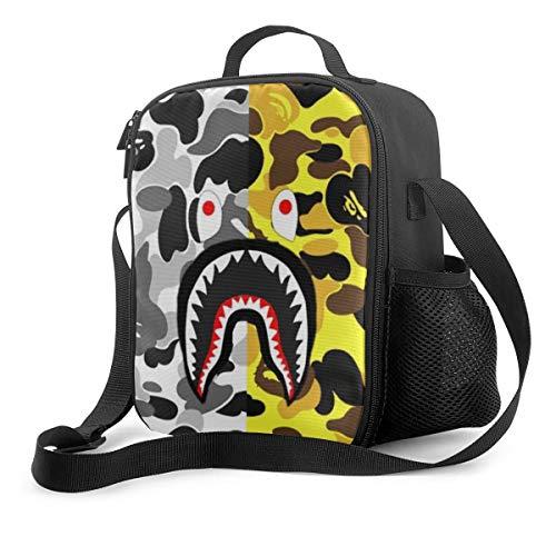 Bape Men Women Kids Insulated Lunch Bag Tote Reusable Box For Work Picnic School