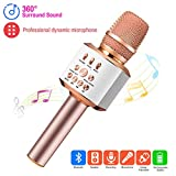 ERAY Microphone Karaoké Sans Fil, 3 en 1 Microphone Bluetooth avec Batterie de 2600mAh / Support de Carte TF/ 3.5mm...