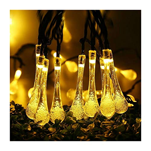 Warm White 30 LED Solar String Lights Outdoor Waterproof Garden Path Yard Decor Fairy Lamp | Closset Org
