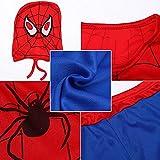 BSNRDX Halloween Cosplay Spiderman Classic Disfraz Superhéroe Spider Niño Traje Cosplay Héroes para Fiestas Disfraces Carnaval Halloween Cumpleaños