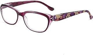 MTYJ 2020 nieuwe anti Blue Light leesbril Dames Mode Vrouw Presbyopie Computer Bril -7.25 (Frame Color : Purple, Size : +50)