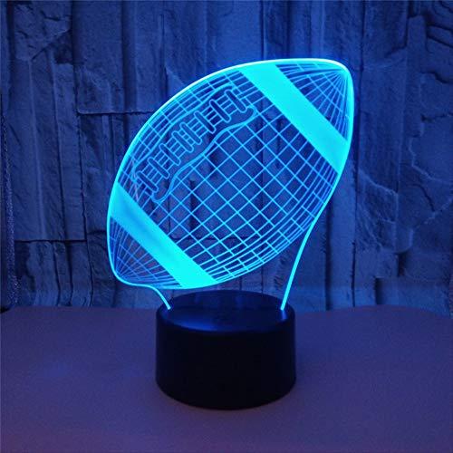Luz nocturna LED 3D, lámpara de escritorio con control táctil para niños, Halloween, decoración para el hogar
