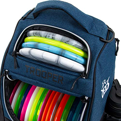 Dynamic Discs Trooper Disc Golf Backpack | Frisbee Disc Golf Bag with 18+ Disc Capacity | Introductory Disc Golf Backpack | Lightweight and Durable (Midnight Blue)