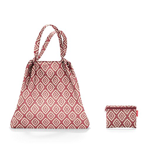 reisenthel Mini Maxi Loftbag Bolsa de tela y playa, 64 cm, Rosa (pink with white diamonds)