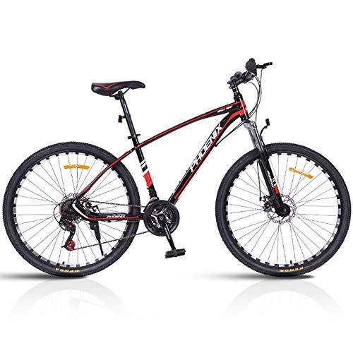 27,5 Pollici 24 velocità Mountain Bikes con Doppio Freno A Disco, Hardtail Mountain Bike Mens Donne Adulte Ogni Tipo di Terreno Mountain Bike,Black Red