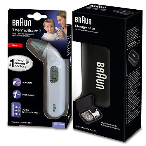 Braun Thermoscan 3 - Termómetro digital auricular + caja de protección