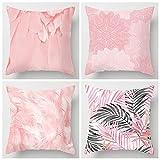 Funda Cojin 45 X 78,Paquete De 4 Fundas De Cojín Creativity Pink...