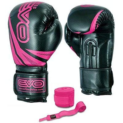 EVO Boxing Gloves Sparring Gel MMA Punch Bag training Maya leather Muay Thai UFC