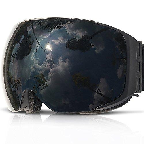 COPOZZ G2 OTG, occhiali da sci magnetici da snowboard con doppia lente anti-appannamento, lenti intercambiabili, protezione UV, casco da sole, per uomini, donne, ragazzi