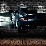 AWER 5 teilig Leinwandbild für Heimdekoration, Toyota GR
