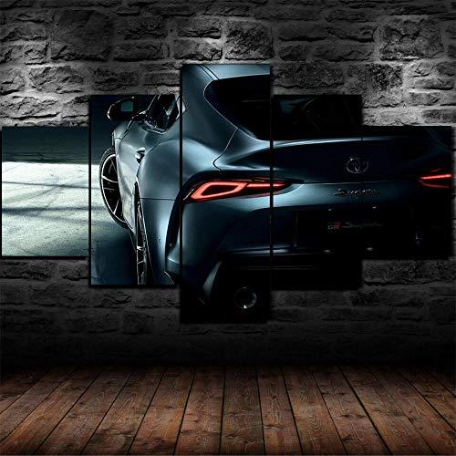 AWER Lona Murales Cuadro Moderno en Lienzo 5 Piezas GR supra 2019 cartel de coche HD Arte De Pared Imágenes Modulares Sala De Estar Decoración para El Hogar 150X80Cm