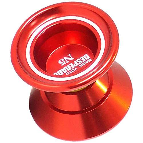 Professional Non-Responsive Alloy YOYO N5 Magic yo-yo Non-Responsive yo-yo, Suitable for Children and Beginners Professional Alloy yo-yo (red)