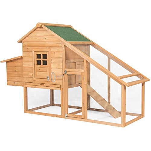 Best Choice Products 75in Wooden Chicken Coop Nest Box Hen...
