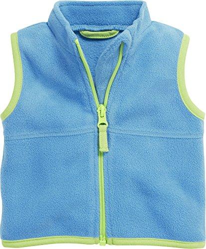 Schnizler Schnizler Baby Fleece-Weste, ärmellose Unisex-Jacke für Mädchen und Jungen mit Reißverschluss und Kontrastnähten, Türkis (aquablau 23), 68