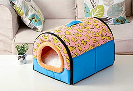 Dog House Cama para Cachorro Kennel Nest with Mat Foldable Dog
