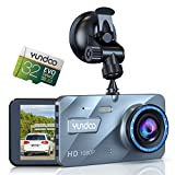 YUNDOO Dash Cam Full HD 1080P Car Camera for Cars 4 Inch IPS Screen Wide Angle Lens, with G-Sensor, WDR Technology, Loop Recording and Parking Monitoring